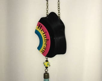 Vinyl Record Necklace - Reinbeau Label
