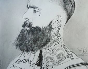 PORTRAIT | Homme barbu tatoué stylé fashion