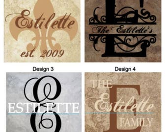 Last Name Personalized Tile