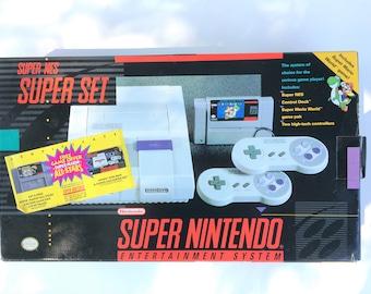 New Super Nintendo, Super Nintendo, Game Console, Nintendo Console, Nintendo In Box, Super Mario, Super Mario World, Mario Game,