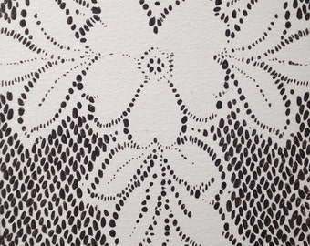 """Lace Drawing """"Leila"""""""