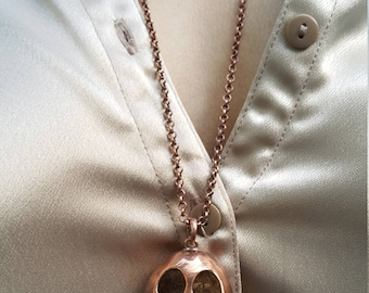 Jack Skellington Copper Vintage Necklace - Nightmare Before Christmas Jewelry, Tim Burton
