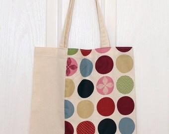 Tote bag, canvas bag, cotton bag, shopping bag, grocery bag, diaper bag, shoulder bag, korean fabric, japanese fabric