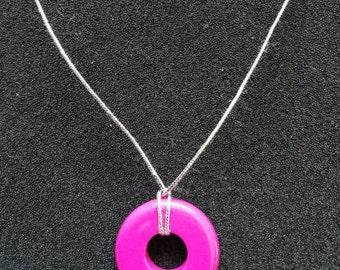 250. Pink Doughnut Choker