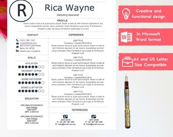 what is a job resume word resume design etsy what font should my resume be in with management resumes resume template cv template word resume design cv free - Job Resume Template Word