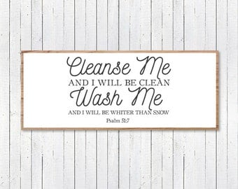 Cleanse Me Verse, Bible Verse SVG, Magnolia Farms Vector, Magnolia Market SVG, Cut File, Print, Fixer Upper Sign, Stencil, Joanna Gaines