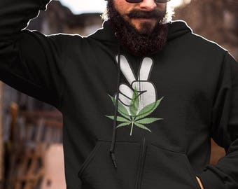 Peace & Weed Zip-Up Hoodie