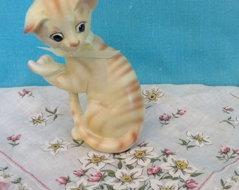 Vintage Lefton Yellow Tabby Cat Figurine, figurines and knick knacks, collectibles, collectible figurines