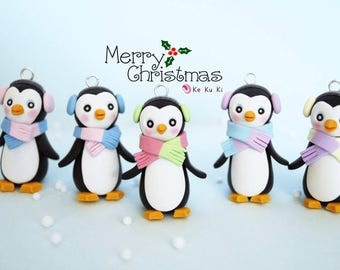 Penguin Ornaments for Christmas tree, home decor/Christmas Tree Decor
