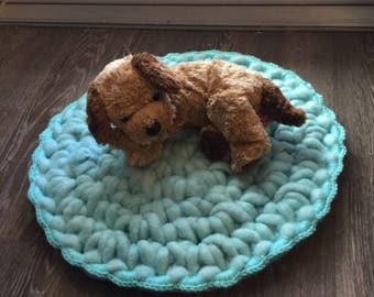 Crochet Pet Bed / Medallion / Charger / Wall Decor