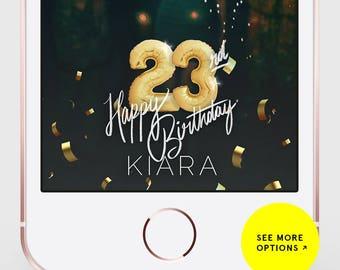 Snapchat Filter Birthday, Snapchat Geofilter Birthday, Birthday Snapchat Filter, Birthday Snapchat, Birthday Filter, Number Balloons