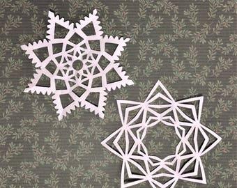 Handmade Paper Snowflakes (5-pack, medium)