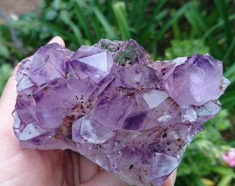 Amethyst and Cacoxenite Cluster 304 grams