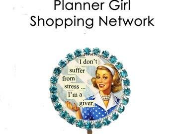 Rhinestone Planner Clip