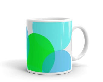 Mug, Pastel Dots Mug, Art Mug, Decorative Mug