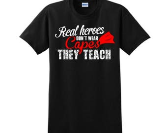 Custom T-Shirt, Teacher, Custom Tees, Shirts, School, Gift, Teacher Appreciation, Gift For Her, Gift For Him, Women Clothing, Unique