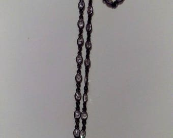 Pave sunburst on cubic zirconia necklace