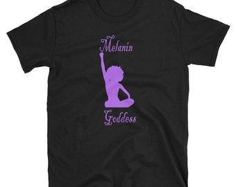 Melanin Goddess Tshirt Afrocentric Clothing HBCU Shirt African Clothing Black Girl Magic Tshirt Melanin Excellence Tee