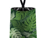 Car Trash Bag // Auto Trash Bag // Car Accessories // Car Litter Bag // Car Garbage Tropical Leaves Jungle Jungalo Foliage Green Monstera