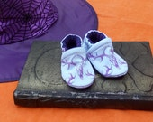 Purple Deer Skull: Soft Sole Baby Shoes 0-3M