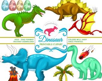 Dinosaur Clipart, Dinosaur PNG, Digital Dinosaur Party Decorations, Dinosaur Pictures, Dinosaur Clip art, Dinosaur Download INSTANT DOWNLOAD