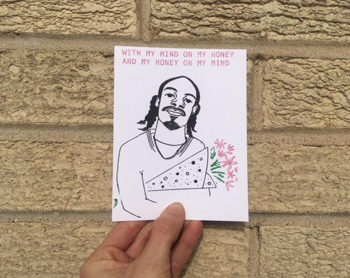Love Card - Hip-Hop, Funny Love Card - Mind On My Honey - Gin n Juice - Anniversary Card