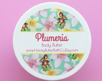 Plumeria Body Butter | Hawaii | Floral | Birthday | Lotion | Unique | Gift for Her | Cream | Bath | Beauty | Mom | Tropical | Flower | Hula