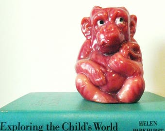 1970s Vintage Sitting Monkey Candle / Retro Home Decor / Kitschy Unique Vintage Candle