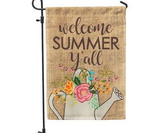 "Welcome Summer Y'all Garden Flag 12""x18"""
