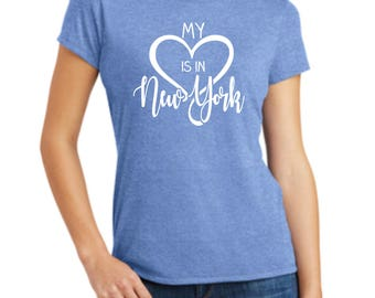 Love State Shirt, Choose Your State, Home State Shirt, Love Shirt, My Heart Is In.....