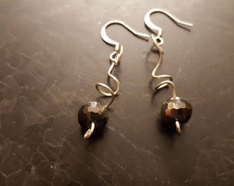 Classy Freeform Wire Earrings
