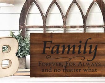 Family Unfinished Cedar Wall Decor