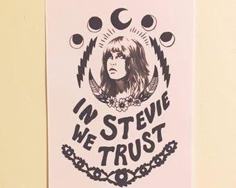 STEVIE WE TRUST - Large 11x17 Art Print