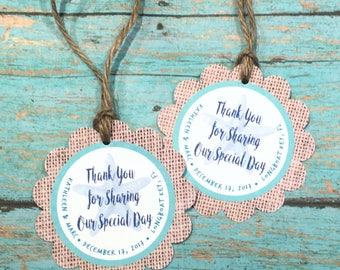 Rustic Beach Thank You Tags Gift Tags Personalized Tags Wedding Thank You Tags Rustic Tags Beach Wedding Favor Tags Beach Bridal Shower Tags