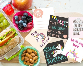 Lunch Box Notes for Kids,Lunch Box Note cards,Back to School Notes,Inspirational Cards,Assorted Lunch Notes,Instant Download,lunch box love