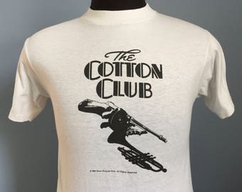 80s Vintage The Cotton Club 1984 Francis Ford Coppola movie Godfather Outsiders Apocalypse Now T-Shirt - SMALL