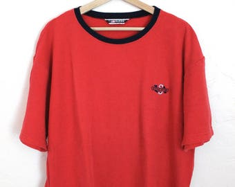 90s Vintage Guess Sport USA Embroidered Red Classic T-Shirt 90s Guess Mens Size Large
