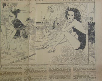 Original 1937 Newspaper Clipping - Youth Takes A Fling By Nell Brinkley