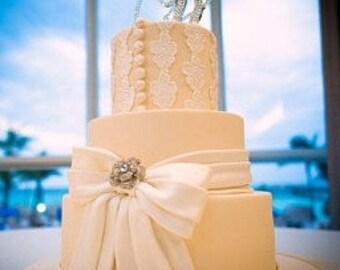 Monogram Wedding Cake Topper, Initial Cake Topper, Swarovski, Rhinestone Cake Topper Letters, Cake Toppers, Bling Cake Topper, Letters A-Z