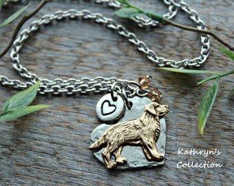 Golden Retriever Necklace, Golden Retriever Jewelry, Heart Dog, Yellow Lab Necklace, Labrador, Read Listing Details Prior to Purchase