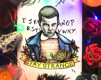 Eleven tattoo etsy for Eleven tattoo stranger things