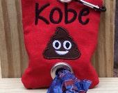 Poop bag holder-personalized poop bag dispenser-dog waste bag dispenser-funny dog lover gift-new puppy gift-dog mom gift
