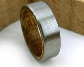 Koa Wood Ring, Men Koa Ring, Women Koa Ring, Koa Jewelry, Wooden Jewelry, Hawaiian Wood Ring, Hawaiian Jewelry, States Ring, Titanium Ring