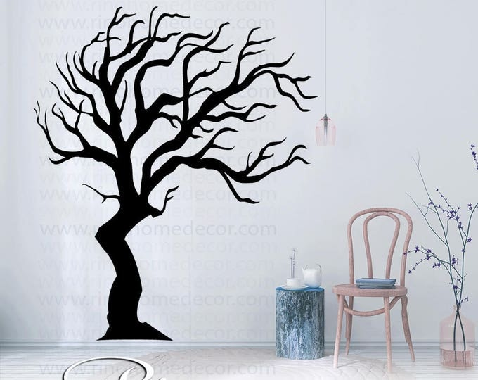 Tree DECAL Wall art Tall family tree large vinyl Wall stickers No background large size nursery book nook home decor livingroom bedroom