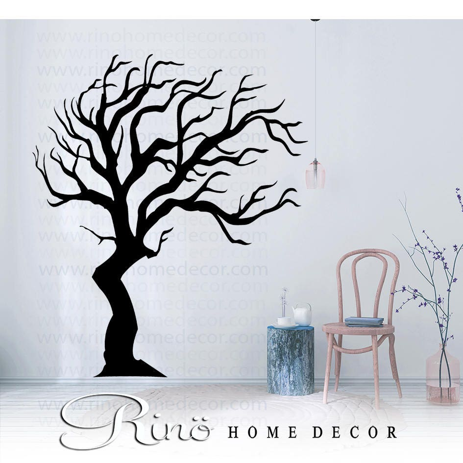 Tree wall decals large personalized family tree decal vinyl wall decal - Tree Decal Wall Art Tall Family Tree Large Vinyl Wall Stickers No Background Large Size Nursery