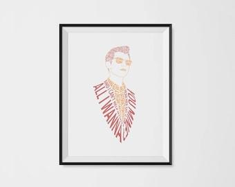 Alex Turner Typography Portrait