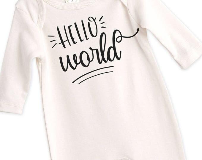 Newborn Baby Coming Home Outfit, Newborn Black White Coming Home, Newborn Hello World Bodysuit, Coming Home Bodysuit Tesababe