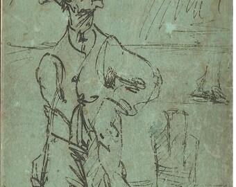mailman artist sketch 1930s