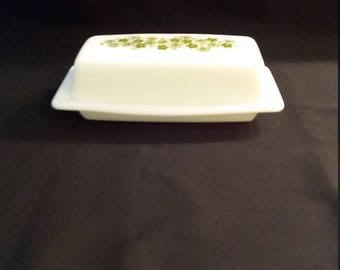 Pyrex Crazy Daisy Spring Blossom Butter Dish and cover