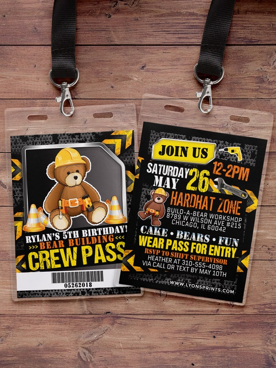 Build Bear Birthday Party Invitation Teddy boy birthday